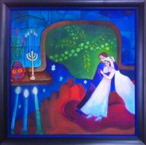 Wedding Painting Chagall Inspired